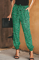 Casual Leopard Print High Waist Loose Harem Pants