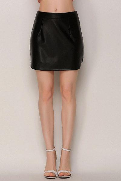 Zipper  Plain Sexy Skirts