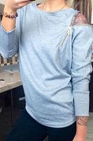 Round Neck  Zipper  Plain T-Shirts