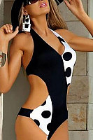 Halter  Patchwork One Piece
