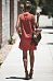 Turn Down Collar  Asymmetric Hem Single Breasted  Plain  Sleeveless Casual Dresses