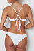Spaghetti Strap Lace Up Plain Bikini