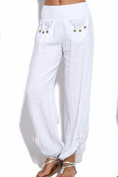 Loose Casual Wide-leg Trousers