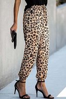 Women Casual Leopard Pants