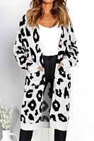 Snap Front  Leopard Cardigans