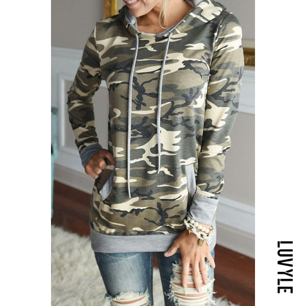 Camouflage Hooded Drawstring Camouflage Hoodies Camouflage Hooded Drawstring Camouflage Hoodies