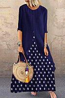 Fashion Polka Dot Print Casual Panel Dress