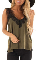 V Neck  Regular  Colouring Camis