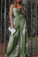 Women Printed Casual Long Jumpsuit