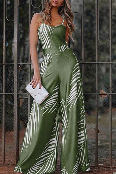 Women Printed Casual Long Jumpsuit