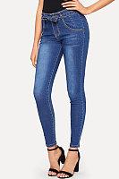 Sheath Basic Plain Jeans