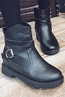 Plain Boots  Casual Leather Boots