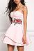 Sweet Heart Embroidery Skater Dresses