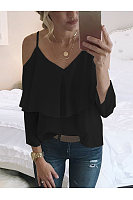 Casual V-Neck Strapless T-Shirt