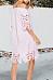 Open Shoulder  Cutout  Plain  Half Sleeve Casual Dresses
