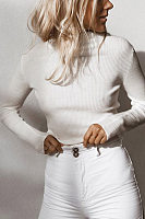 Brief Casual Round Neck Plain Sweater