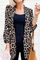 Women Leopard Casual Blazer