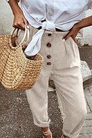 Single Breasted  Plain Pants