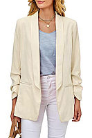 Commuting Turndown Collar Slim Long Sleeve Pure Color Wild Blazer