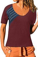 Round Neck  Stripes T-Shirts