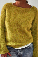 Casual Solid Color Basic Sweater