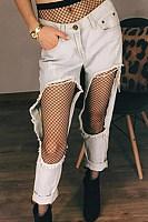 See Through Sexy Long Three Size Grid Leggings