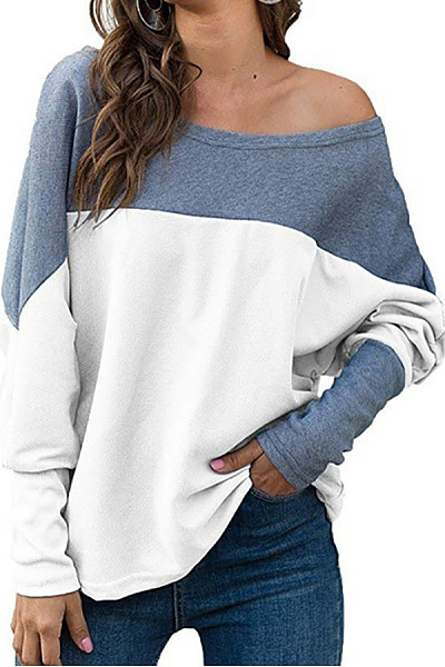 Round Neck Color Block T-shirt
