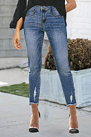 Retro Denim Cropped Pants Women's Jeans