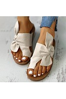 Women's flat non-slip bow sandals