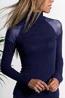 Fashion High Collar Pure Colour Long Sleeve Shirt