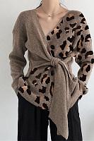 Fashion Leopard Colorblock Sweater