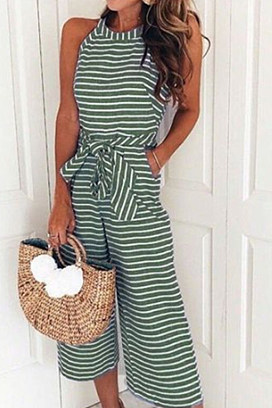ef1e53eed94 striped vacation sleeveless casual jumpsuit