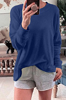 Casual Outdoor Round Neck Long Sleeve Loose Sweatshirt