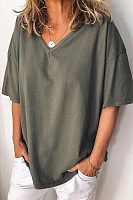 Casual Loose V-Neck T-Shirt