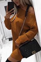 One  Shoulder  Plain  Sweaters