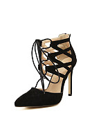 Solid High heeled Stiletto Elegant Point Toe Heels