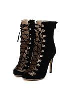 High heeled Velvet Sexy Peep Toe Heels