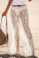 Decorative Lace  Plain Pants