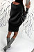 Scoop Neck  Plain  Batwing Sleeve  Long Sleeve Sweater Casual Dresses