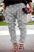 Polka Dot Casual Long Pants