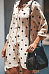 Crew Neck  Single Breasted  Dot  Long Sleeve Casual Dresses