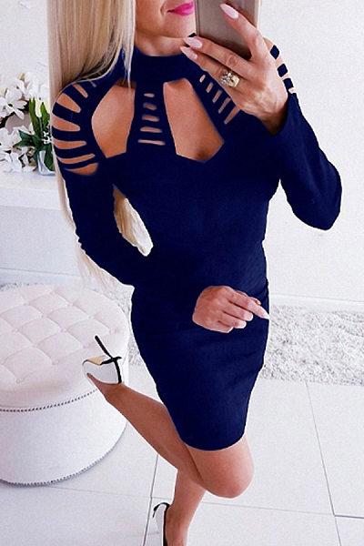 High Stretch  Plain Bodycon Dresses
