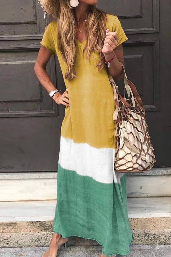 Summer Look Cute Casual Bohemian Maxi Dress