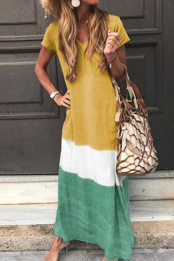 Summer Look Cute Casual Bohemian Maxi Dress