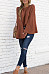 Round Neck  Loose Fitting  Plain  Bell Sleeve Sweaters
