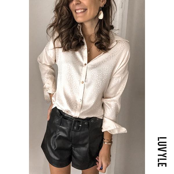 Fashion Lapel Single-Breasted Long Sleeve Shirt BJ31