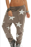 Decorative Buttons  Geometric Pants