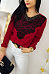 Round Neck  Lace Patchwork  Blouses
