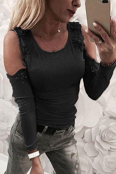 Fashion Sexy Slim Off-Shoulder Top