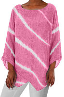 Round Neck Irregular Striped T-shirt